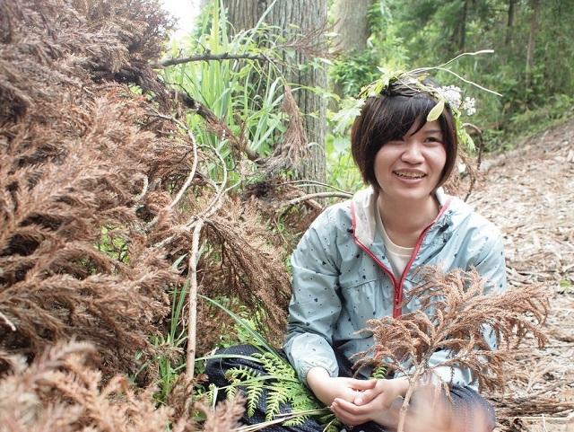 林業女子の入交律歌さん