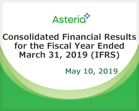 Consolidated Financial Results for the Fiscal Year Ended March 31, 2019 (IFRS)