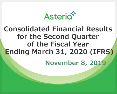 Consolidated Financial Results for the Second Quarter of the Fiscal Year Ending March 31, 2020 (IFRS)