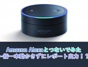 【つないでみた】Amazon Alexaとつないでみた  ~指一本動かさずにレポート出力!?~